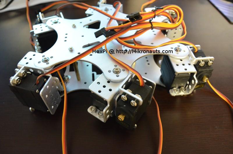 Mikronauts com » HexPi – Hexapod Pi Robot