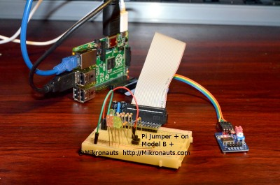 Pi Jumper Plus on a Raspberry Pi Model +