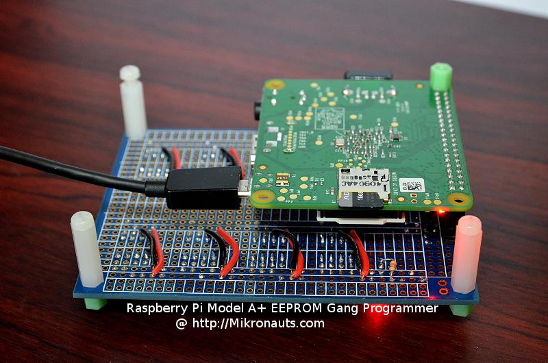 Mikronauts com » Making a Raspberry Pi based I2C EEPROM Gang