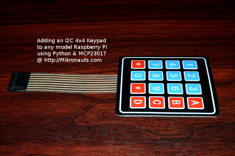 mikronauts com raspberry pi i2c 4 4 matrix keypad with mcp23017 rh mikronauts com 4x4 Matrix Keypad Keypad Matrix Schematic