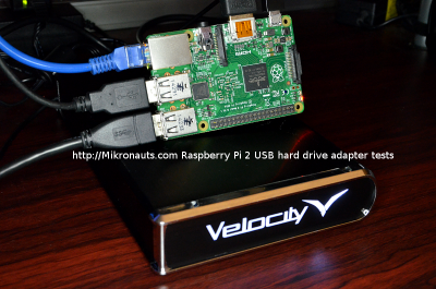 http://Mikronauts.com Raspberry Pi 2 USB hard drive and adapter tests