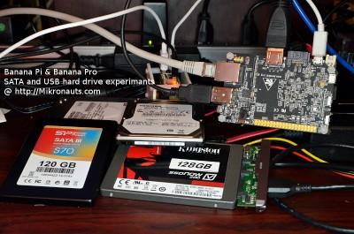 Banana Pi & Banana Pro SATA and USB Hard Drive experiments @ http://Mikronauts.com