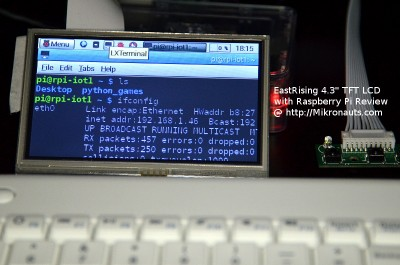 "EastRising 4.3"" TFT LCD  with Raspberry Pi Review @ http://Mikronauts.com"