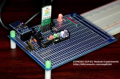 ESP8266 ESP-01 Module Experiments http://Mikronauts.com/esp8266/