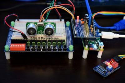 Raspberry Pi HC-SR4 @ Mikronauts.com