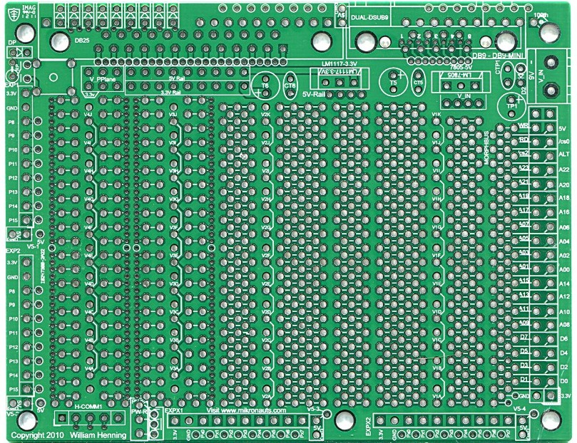 Proteus rev2 green pcb